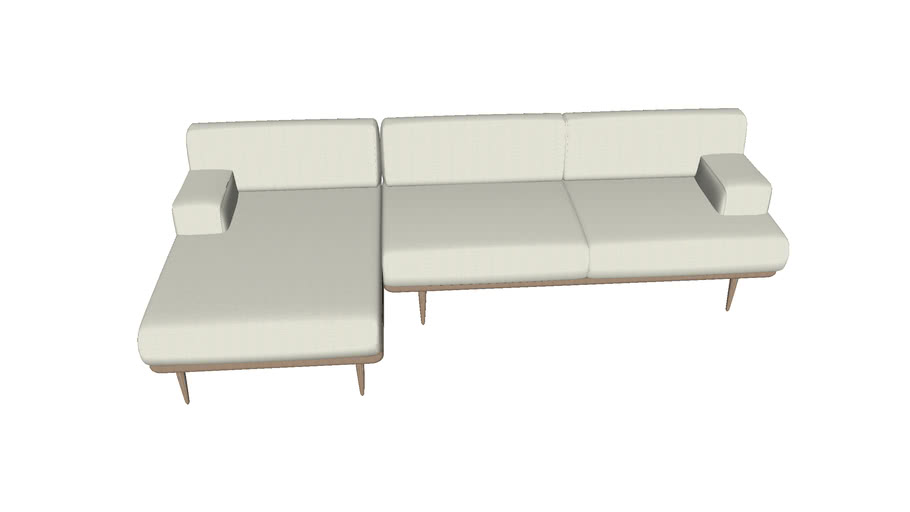 Madison 3 seater sofa with chaise longue