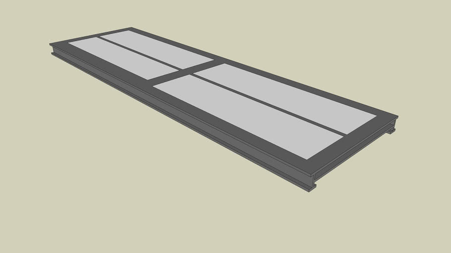 Pont bascule 10mx3mx0,35m