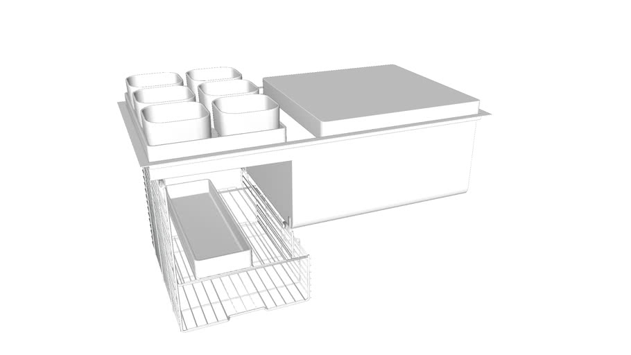 """K-3760 Stages(TM) 33"""" x 18-1/2"""" x 9-13/16"""" under-mount single-bowl with wet surface area kitchen sink"""