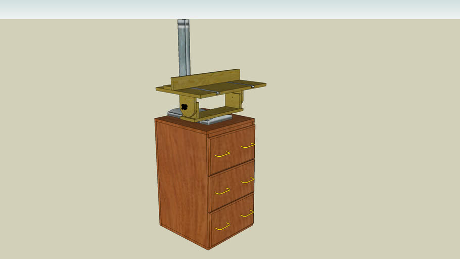 Drill Press Workstation From Popular Woodworking Magazine June 2004