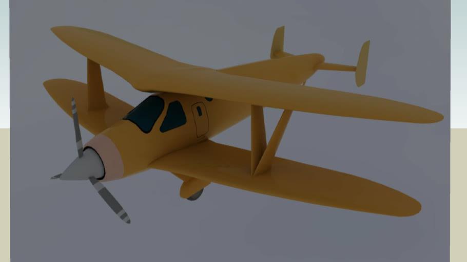 Golden Biplane
