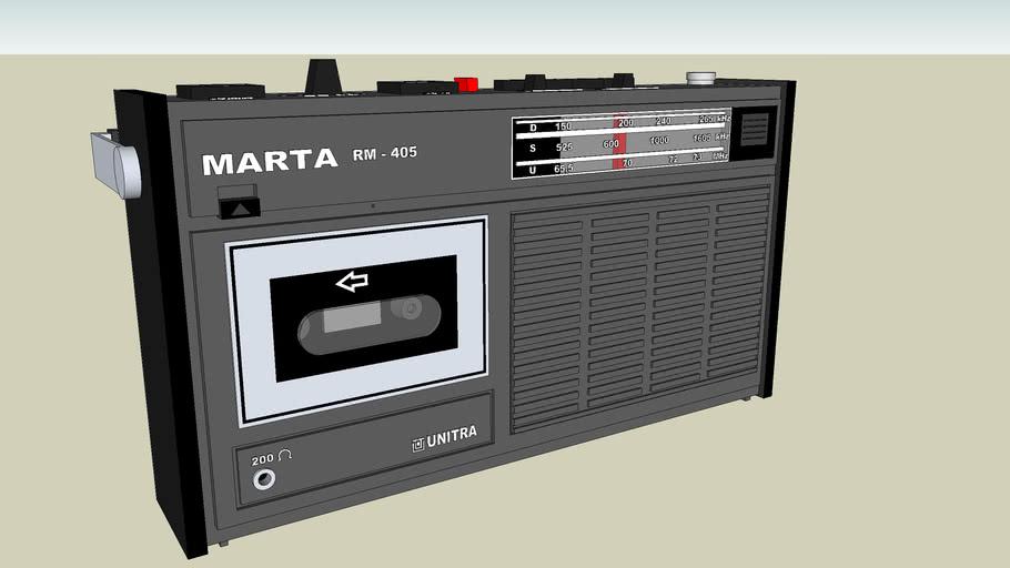 "Radiomagnetofon ""MARTA ""  RM 405"