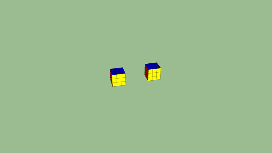 Two Completed Rubiks Cubes
