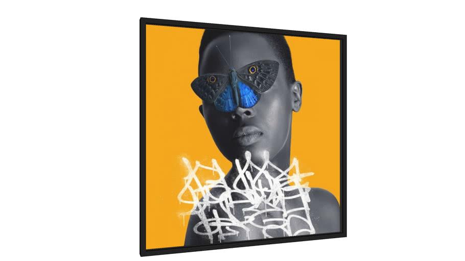 Quadro She and the Butterfly - Galeria9, por Renato Kolberg