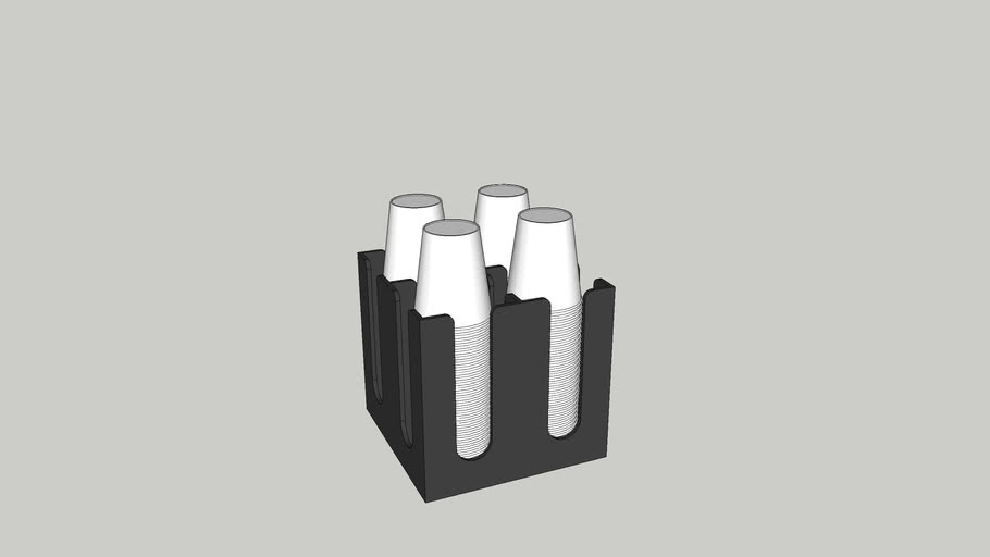 Cup dispenser 4x