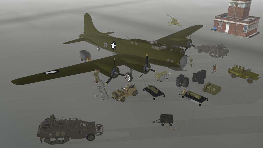 WW2 AMERICAN BOMBING PREPARATION