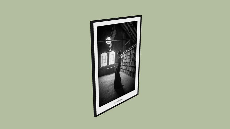 "BRODZIAK Poster #05 ""Library"" 70x50cm - Black&White, Photography, Image"
