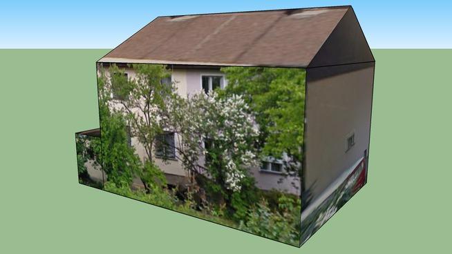 Semi-detached house 01 in Podléšková, Prague, Czech Republic