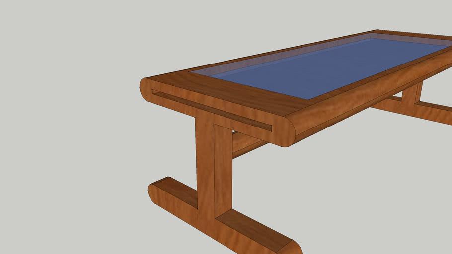 Tropical hardwood dinner table