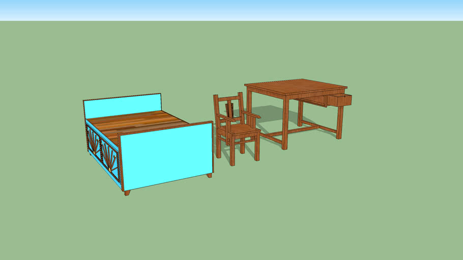 Bed,Chair,Table