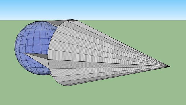 A sphere in a modified cone.
