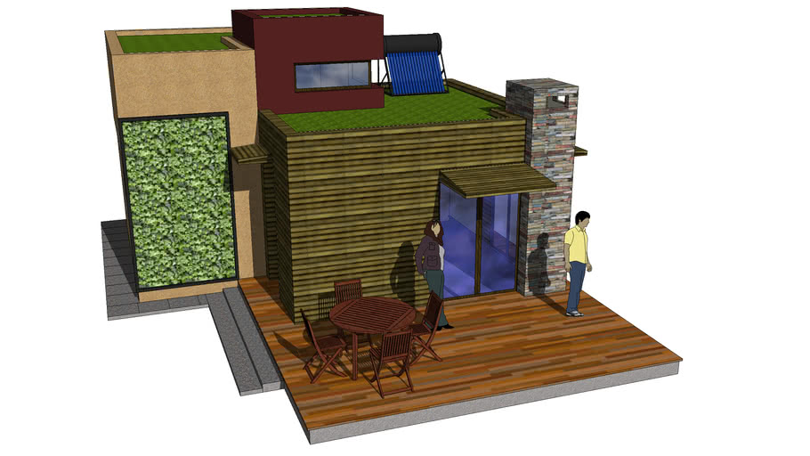 Eco House (wood and straw)
