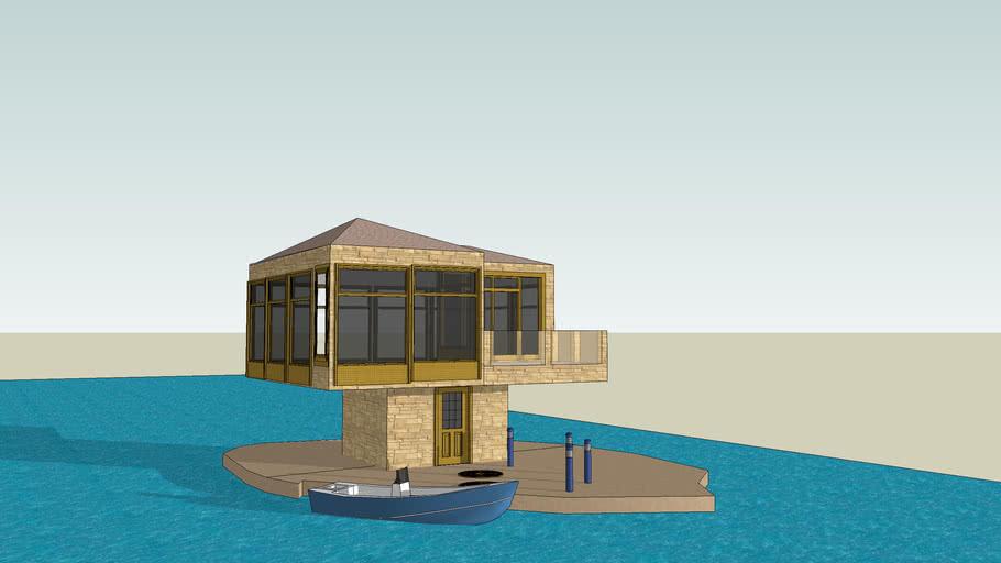 small house at sea