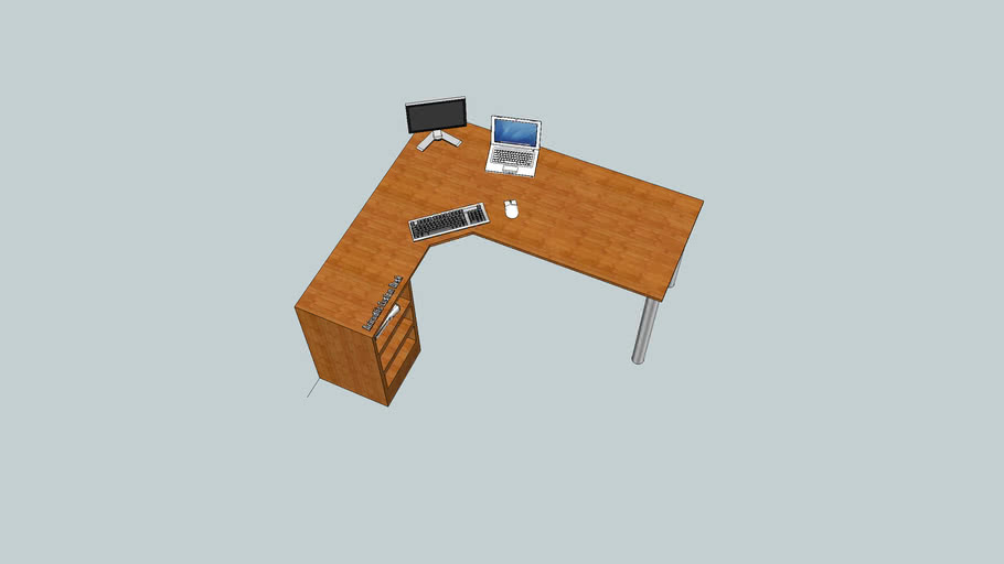 An Ergonomic L Shaped Desk