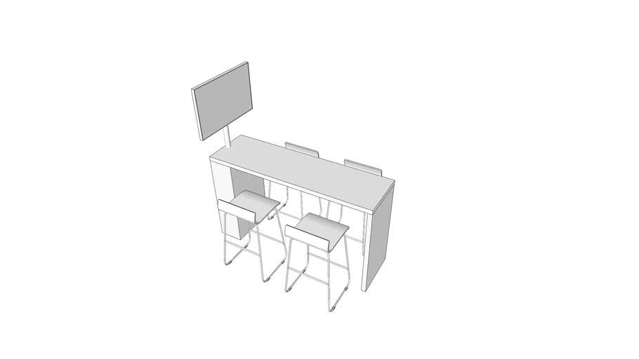 模块化屏幕展示桌