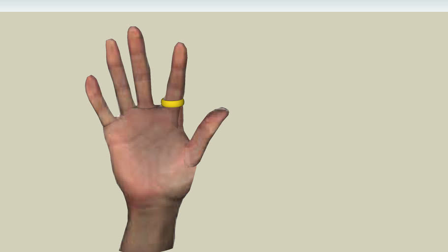 hand + wedding ring