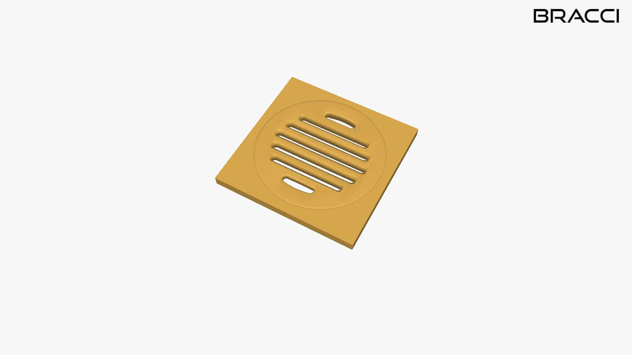 Ralo 10x10 Dourado B09005G | BRACCI