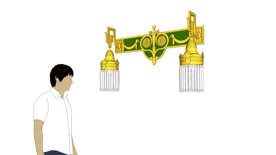 Art Deco wall lamp