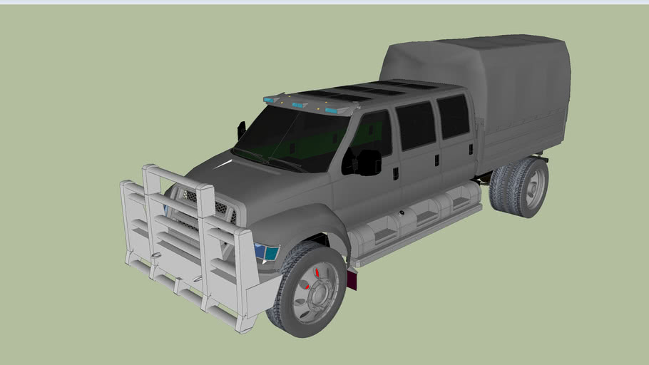 F-650 Truck with push bar