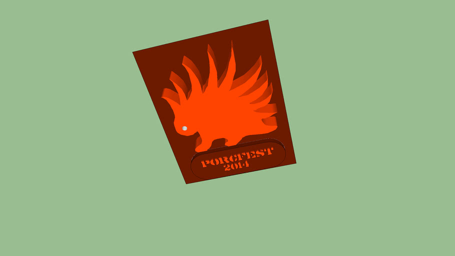 PorcFest 2014 concept logo orange.