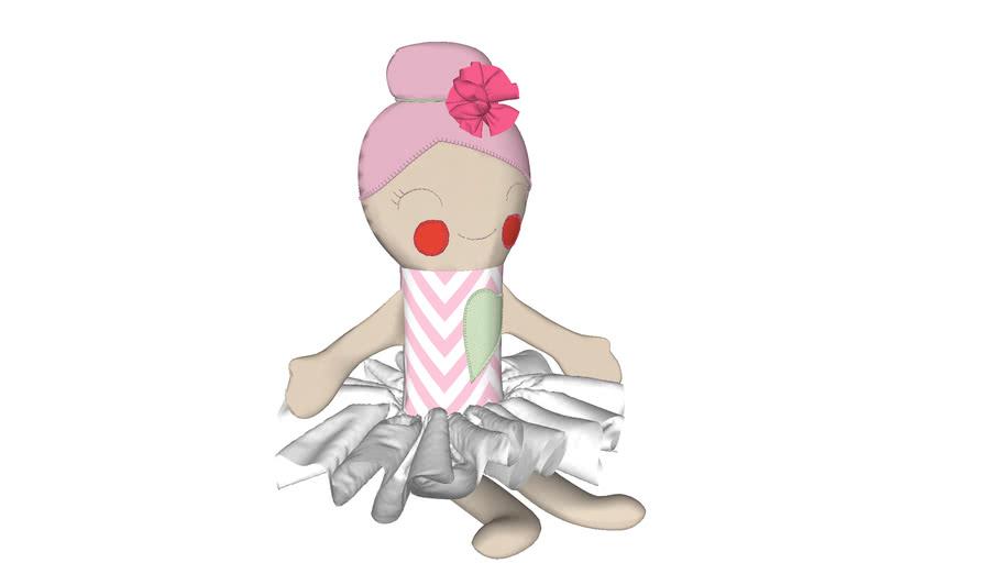 Boneca Merry chevron sentada
