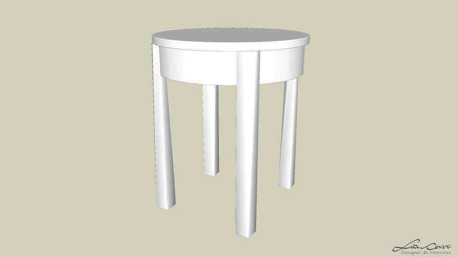 mesa cabeceira redonda