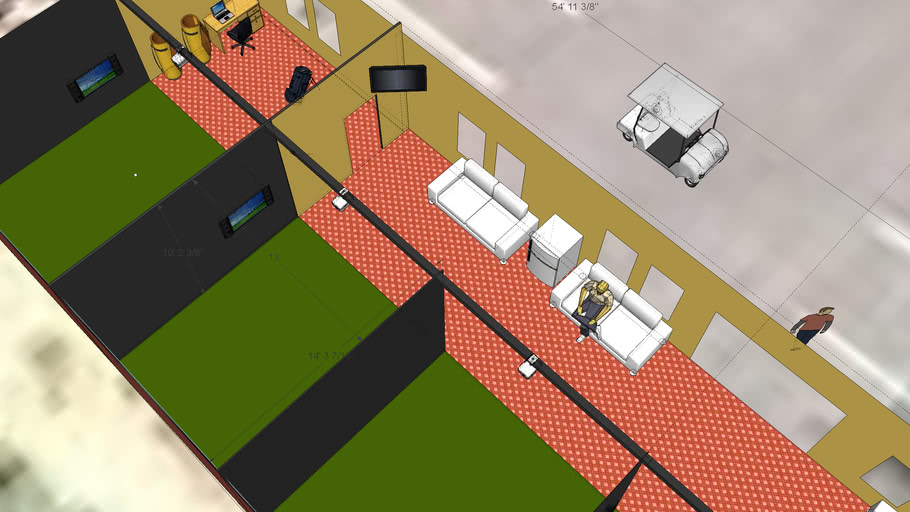 Sherwood Lake Club Virtual Golf building