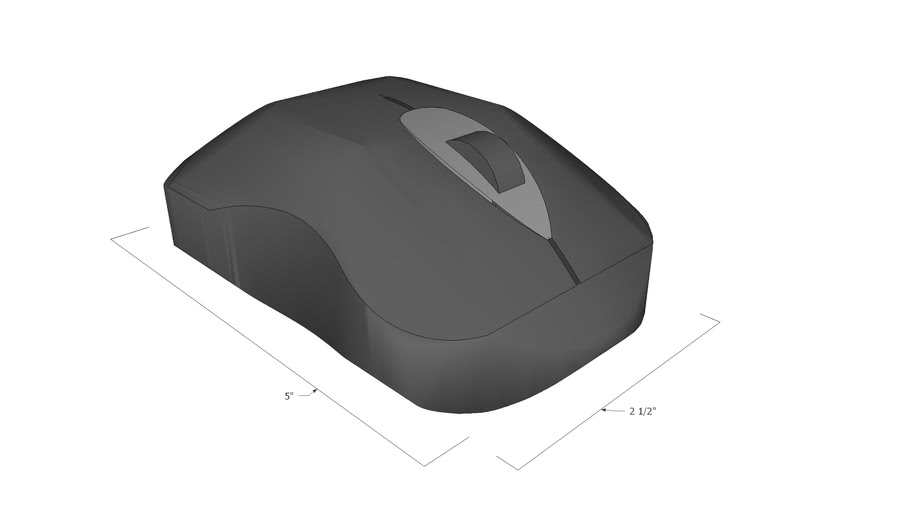 PC Wireless Mouse (to scale)