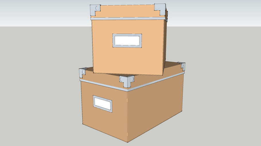 IKEA KASSETT 16x26 Box with lid dark natural