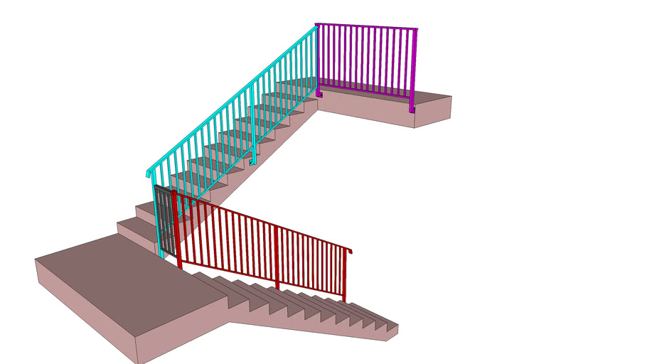 Stair Railing 3d Warehouse