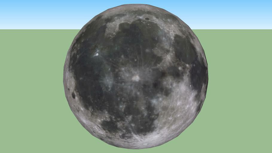 Moon, WARNING: high poly!