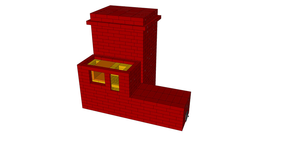 Masonry Heater with cooking stove and builtin cooking oven
