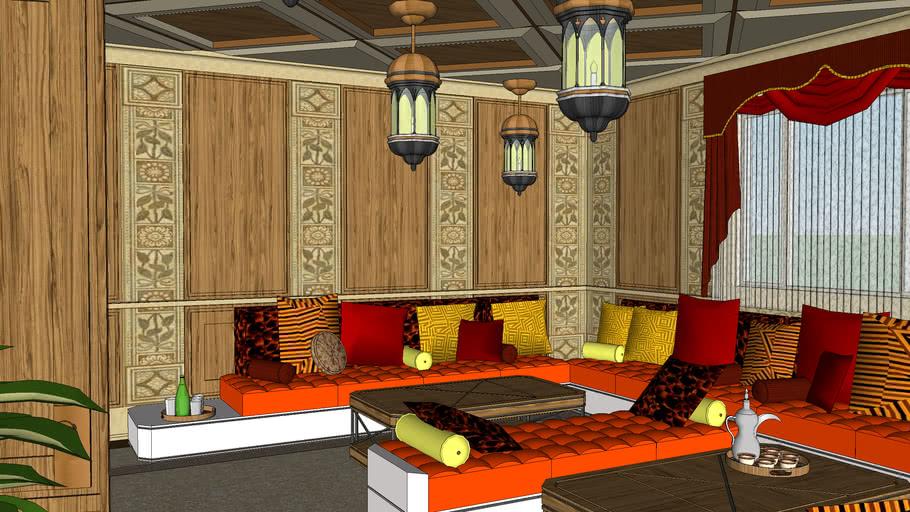 Modern Moroccan Livingroom 3d Warehouse