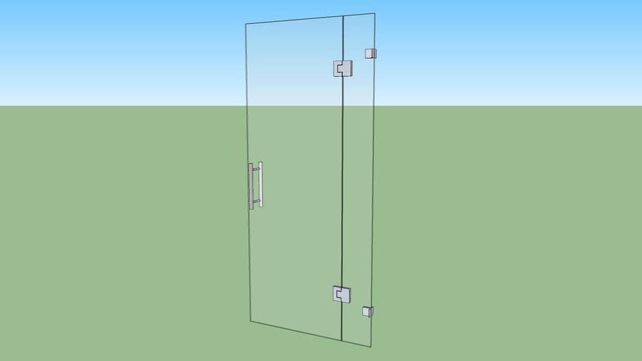 Glass Door + Glass 1