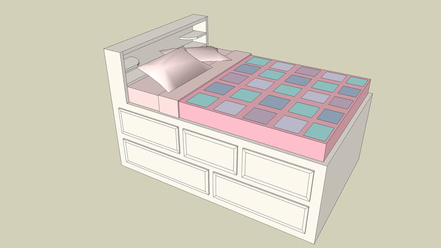 Girls Double Captain's Bed