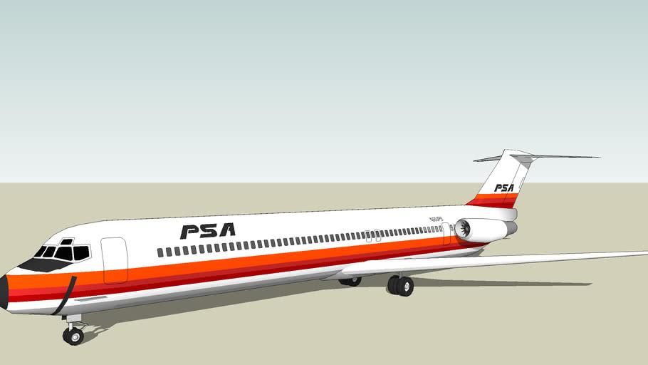 Pacific Southwest Airlines (PSA) McDonnell Douglas DC-9-81 (MD-81)