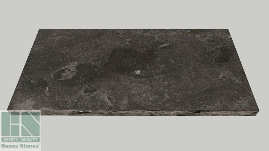 "Banas® Stones Natural Jumbo Slabs - 24"" x 48"" - Antique Black"