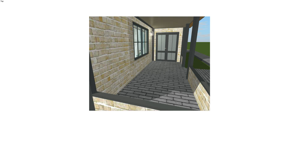 McMansion 3, view of front door from porch