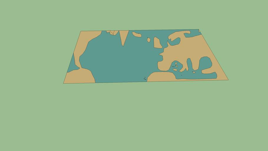 Carte de l'Atlantique nord