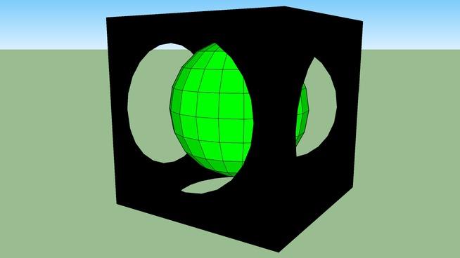 Alien Power up Cube Marble Blast Carbon