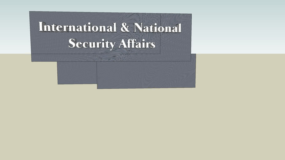 International & National Security Affairs