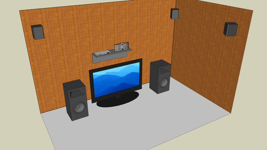 TV with speakers