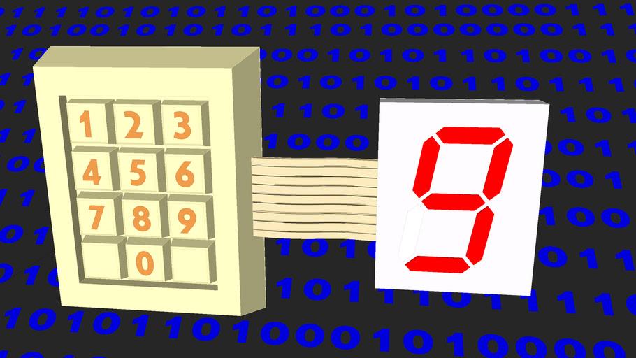 7-Segment-Display, dyn. components  7-Segment-Anzeige, dyn. Komponenten