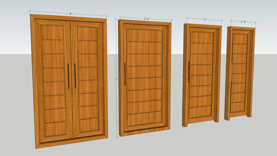 Doors with Vray textures and with perfect sizes