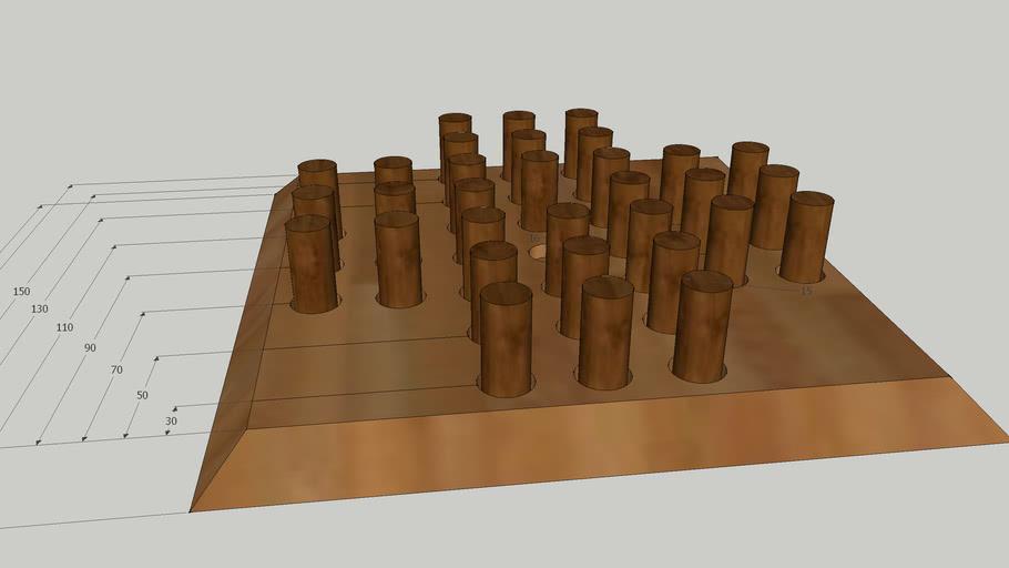 Solitär aus Holz basteln