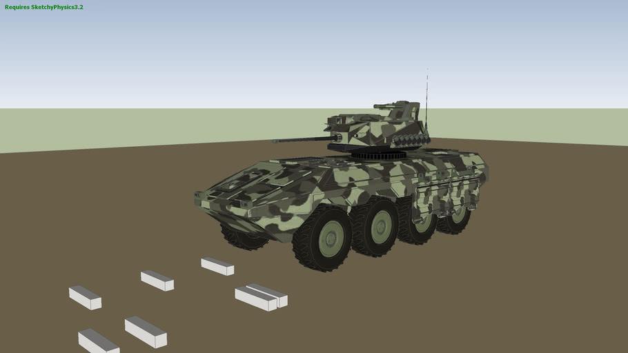 PSM - Iveco DVD B3 Centaur Tank Hunter / Killer - SketchyPhysics