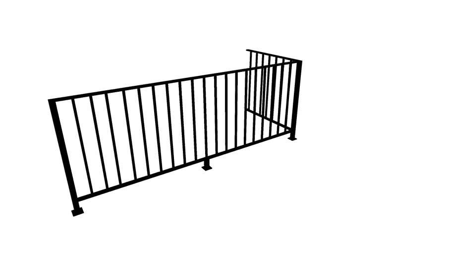 Smith stairwell guardrail
