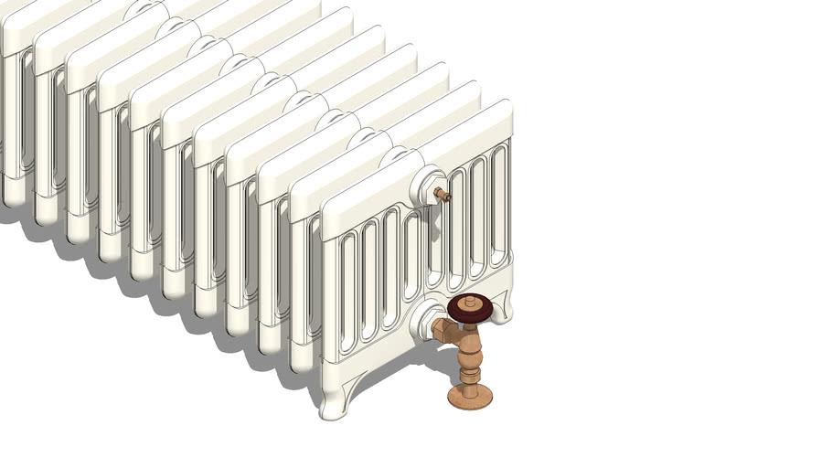 Traditional Victorian 9 Column 330mm Cast Iron Radiator