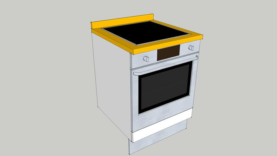 Mueble de cocina 60x60x70 vitroceramica horno encimera zocalo