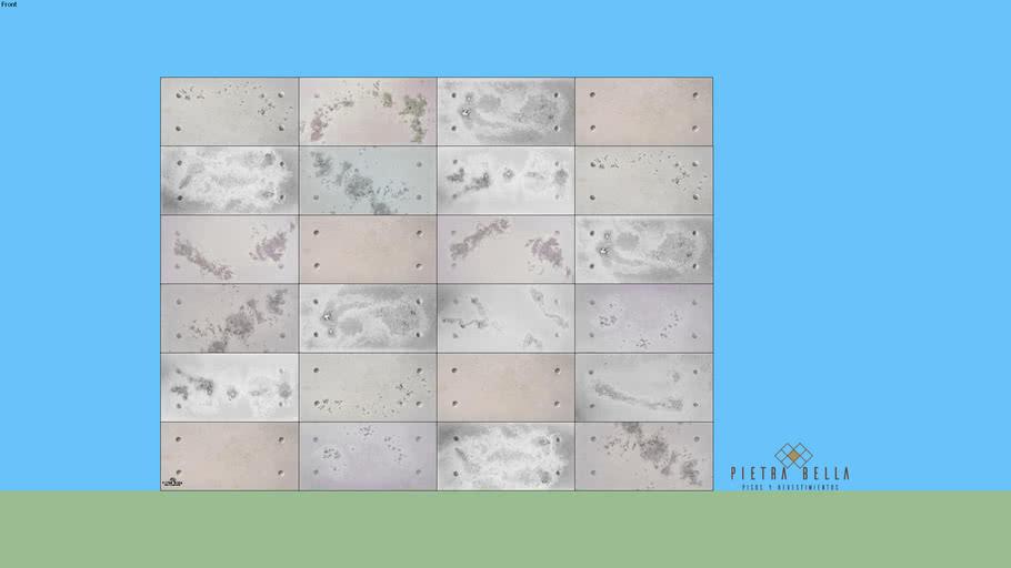 Placas 60x30 Grecco y Lisas combinado